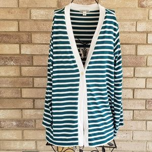 Coldwater Creek 1X Cardigan 18 Sweater V Neck Teal